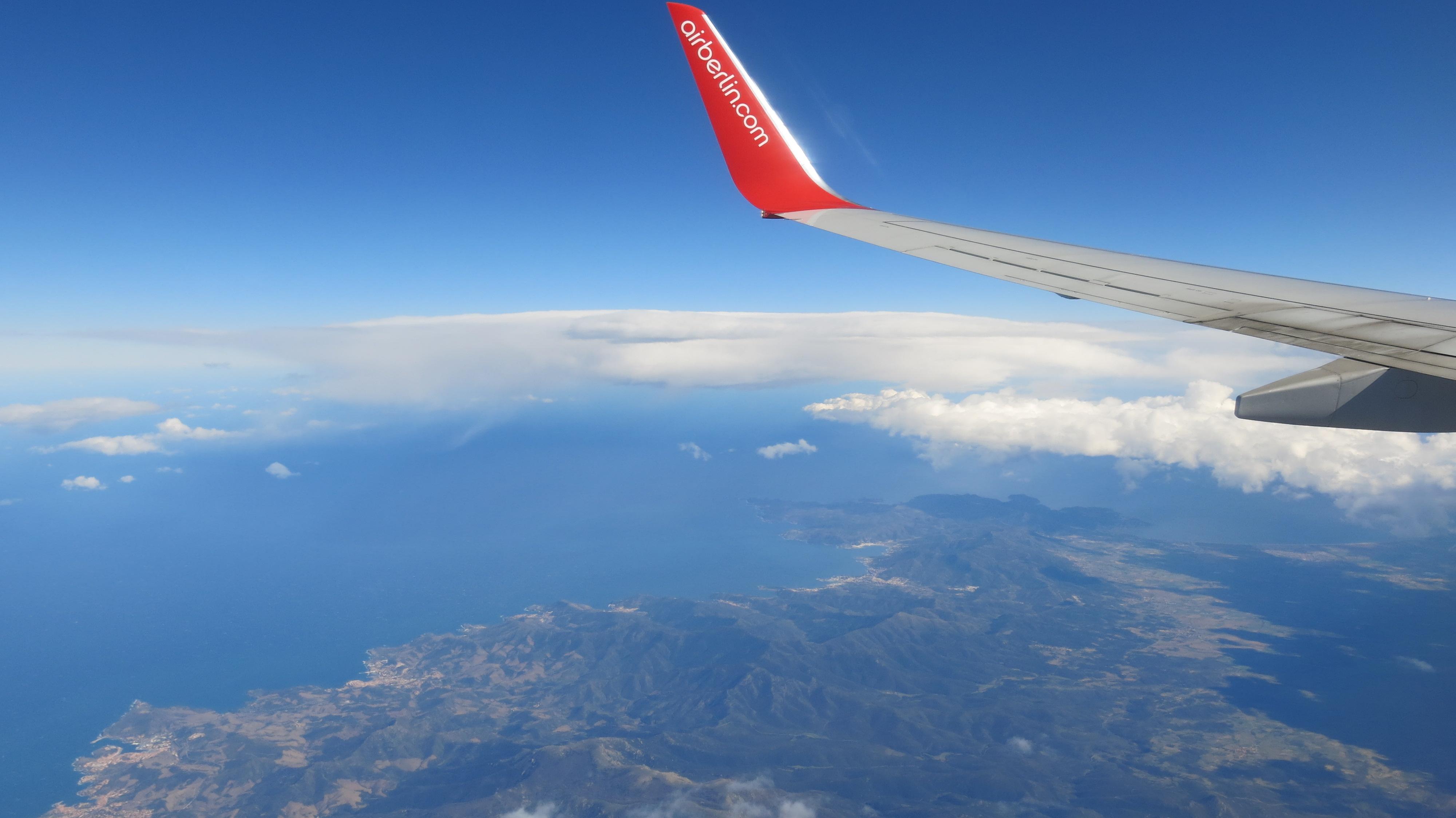 Anflug Barcelona